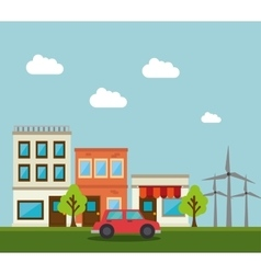 buildings concept design vector image