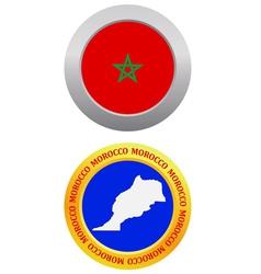 button as a symbol MOROCCO vector image