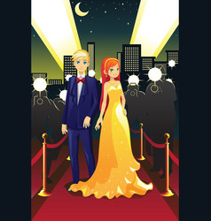 celebrities on the red carpet vector image