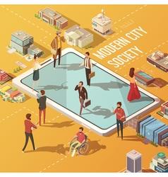City Society Concept vector