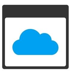Cloud Calendar Page Toolbar Icon vector