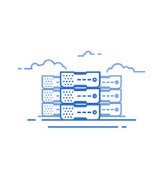 cloud server line vector image