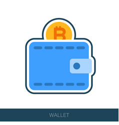 crypto wallet icon vector image