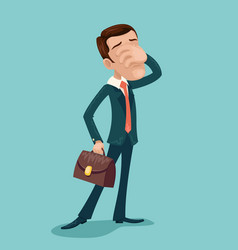 Disappointment frustration facepalm businessman vector