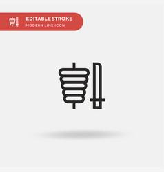 Doner kebab simple icon vector