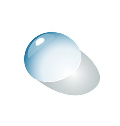drop of water on the flatness a transparent vector image