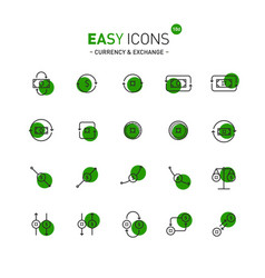 easy icons 10d exchange vector image