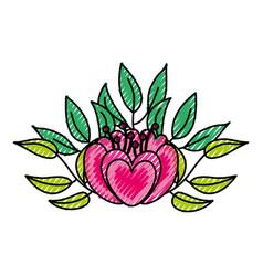 Elegant flower decorative icon vector