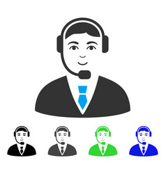 Enjoy call center operator icon vector