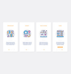 fast food for cafe bakery or pastry shop ux ui vector image