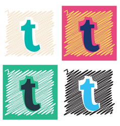 Flat tumblr social media icons vector