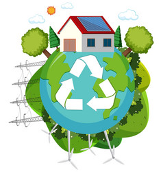green energy recycle logo vector image
