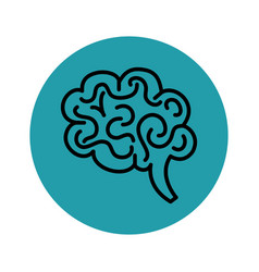 Hand drawn brain icon vector