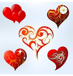 Heart shape set vector image