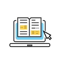 Icon online books digital library vector