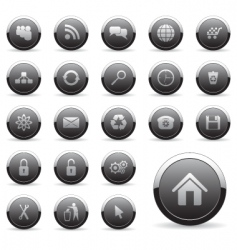 Icons set for web design vector