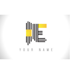 ie black lines letter logo creative line letters vector image