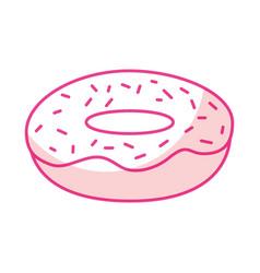 Isolated delicious glaze donut vector