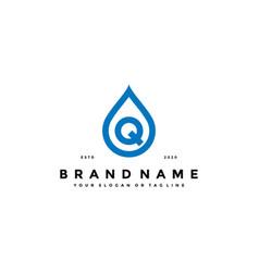 Letter q water drop logo design vector