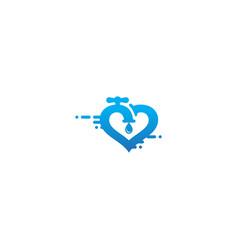 love plumbing water logo vector image