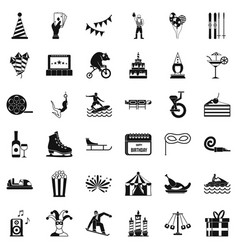 lunapark icons set simple style vector image