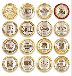 Luxury retro badge and labels collection vector