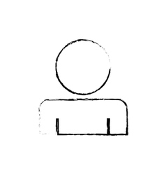 Man profile pictogram vector