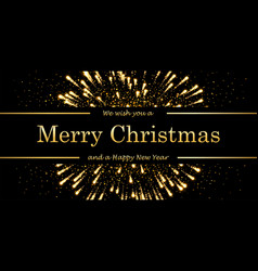 marry christmas and happy new year card magic vector image