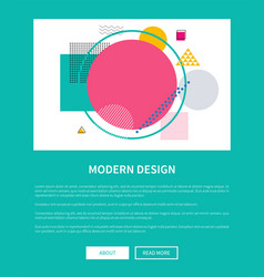 modern design of mockup of corporate web page vector image