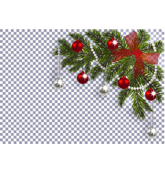 new year christmas a green branch of a christmas vector image