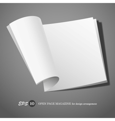 Open page magazine vector image