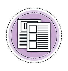 Paper documents file icon vector