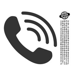 Phone call icon with job bonus vector
