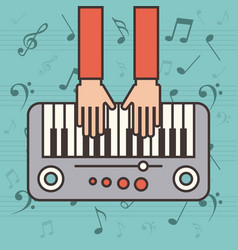 Piano instrument icon vector