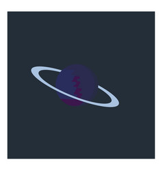 planet in space on white background vector image