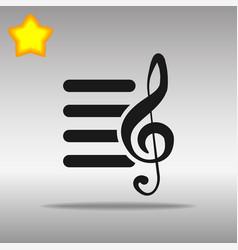 Playlist black icon button logo symbol vector