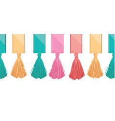Ribbons with long hanging decorative vector