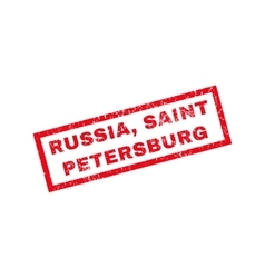 Russia Saint Petersburg Rubber Stamp vector