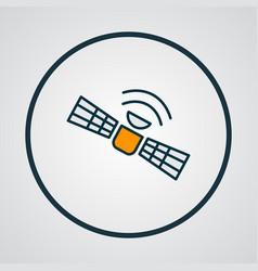 satellite icon colored line symbol premium vector image