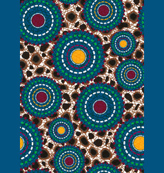 Seamless african wax print fabric ethnic handmade vector