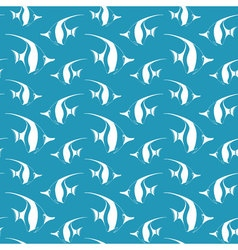 Seamless pattern with pennant fish fish pattern vector