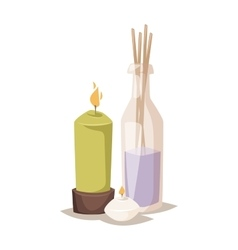 Spa aroma icons vector image
