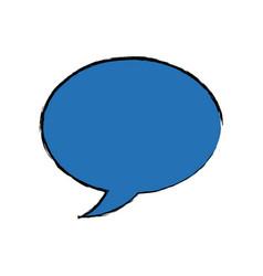 Speech bubble message chat dialog conversation vector