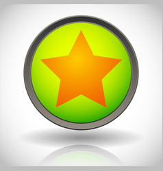 Star in a circle icon graphics vector