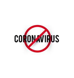 Stop coronavirus covid-2019 on blue background vector