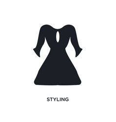 Styling isolated icon simple element from sew vector