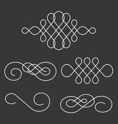Swoosh line and divider calligraphy style vector