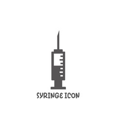 syringe icon simple flat style vector image