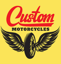 Template on motorcycle theme with calligraphic vector
