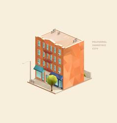 tenement building vector image